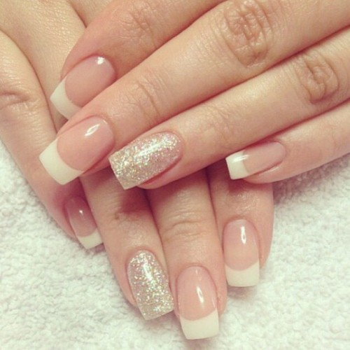 15 fashionable french tip nail designs styles weekly pretty french nail design prinsesfo Gallery