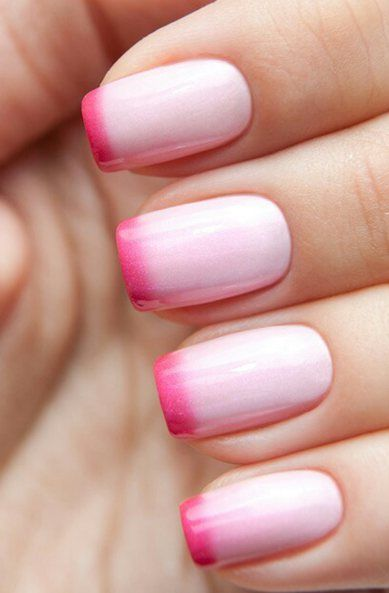 Pink Tip Nails Designs