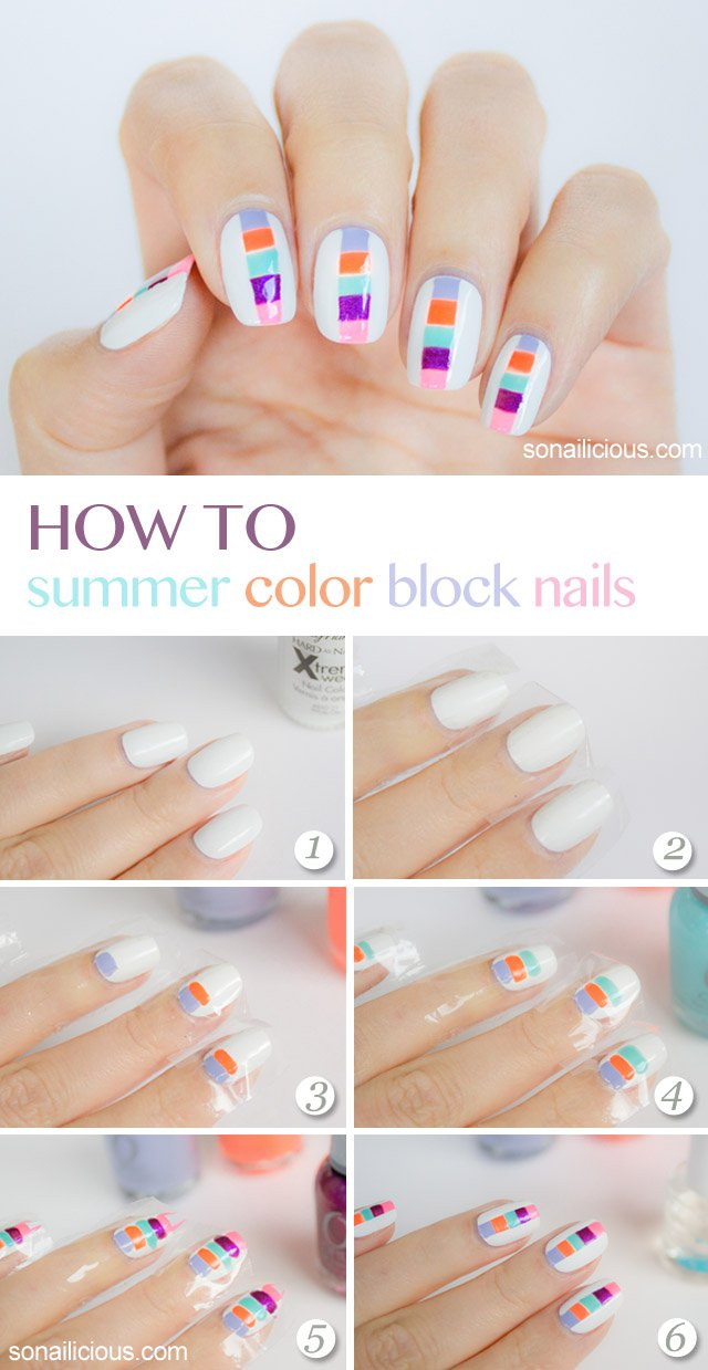 Beautiful Summer Nail Tutorials | Styles Weekly