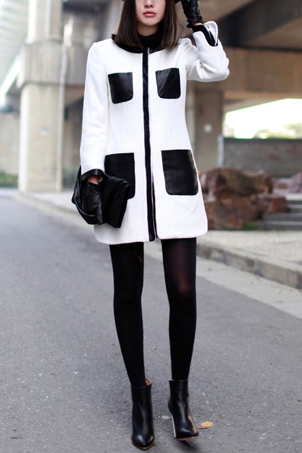 White And Black Coat