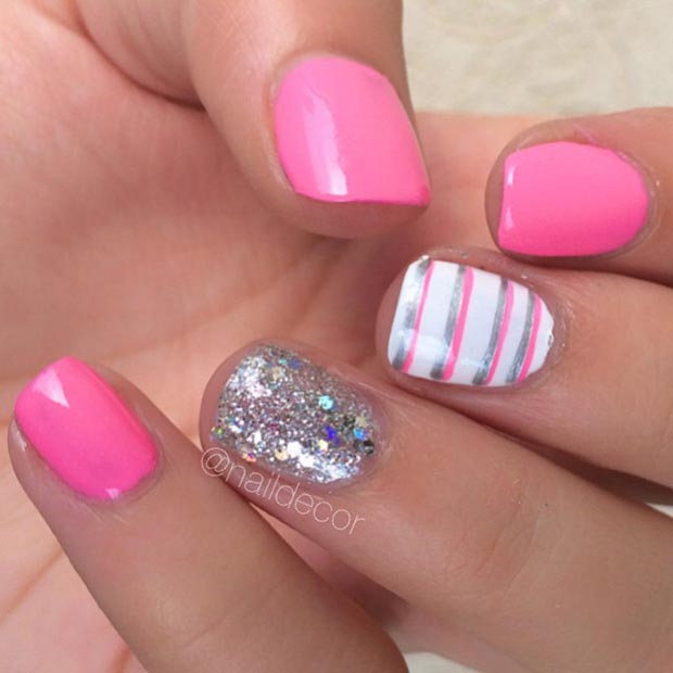 Nail Art Ideas: 58 Amazing Nail Designs For Short Nails (Pictures