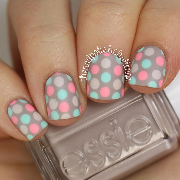 White Nail Polka Dot Design My Own Email