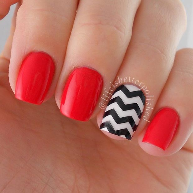 Easy black and white nail designs for short nails best nails 2018 58 amazing nail designs for short nails pictures styles weekly prinsesfo Gallery
