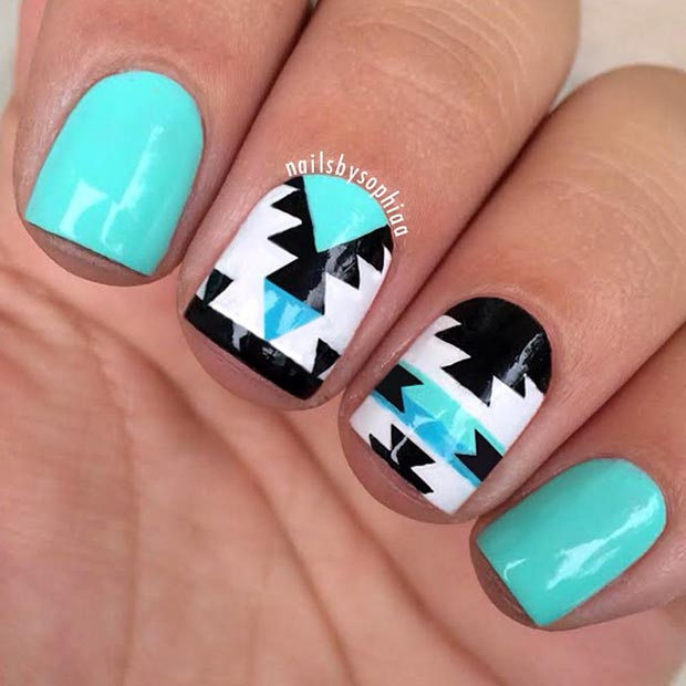 Nail Art For Short Nails At Home: 58 Amazing Nail Designs For Short Nails (Pictures