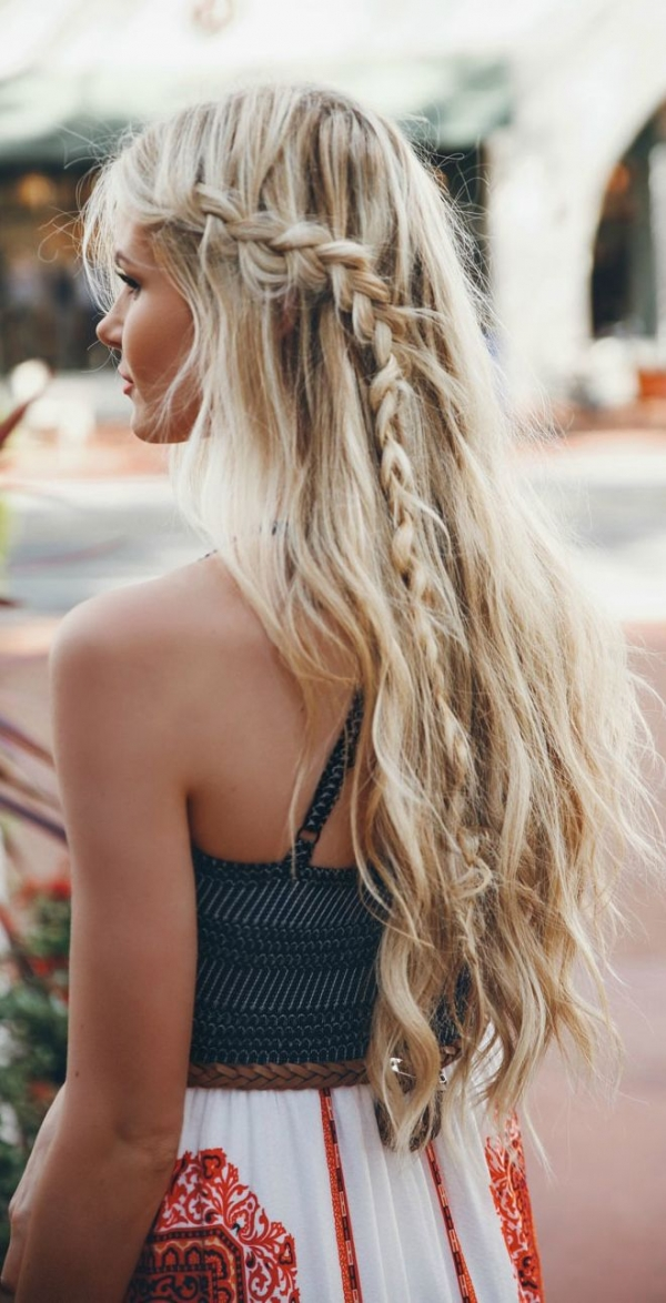 Pretty Beach Braid Hairstyle