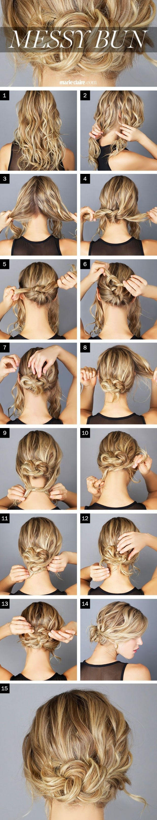 A Collection of 23 Super Chic Bun Hairstyle Tutorials