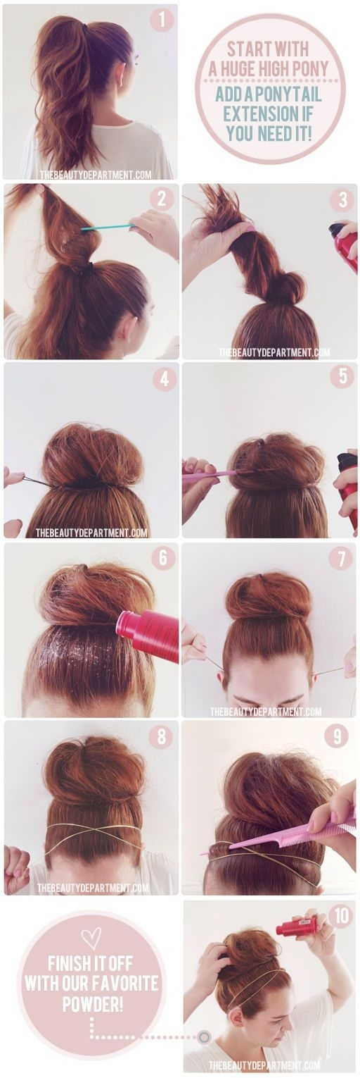 A Collection Of Super Chic Bun Hairstyle Tutorials Styles Weekly - Hairstyle bun tutorials