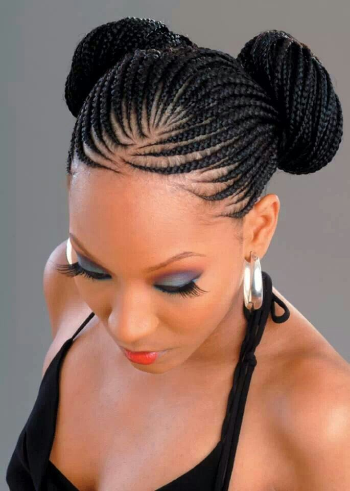 Cornrow Pigtail Buns 24 Gorgeously Creative Braided Hairstyles For Winter