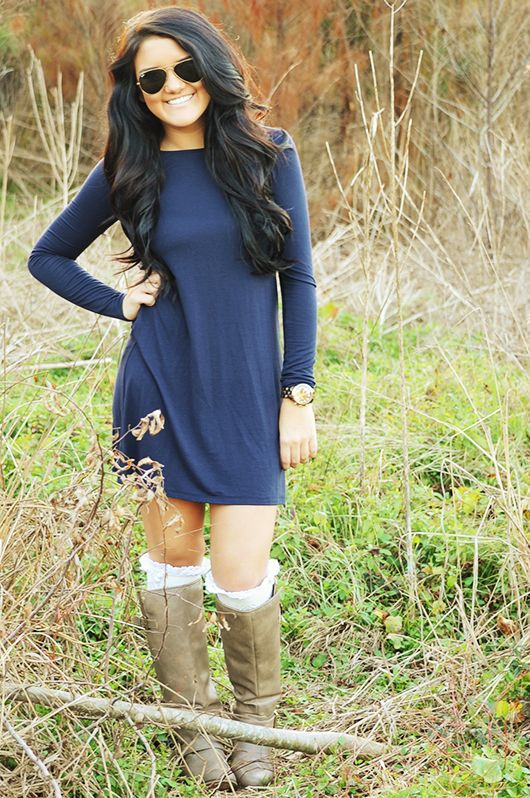 Dark Blue T-shirt dress