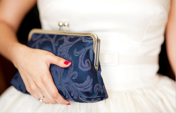 Dark Blue Clutch