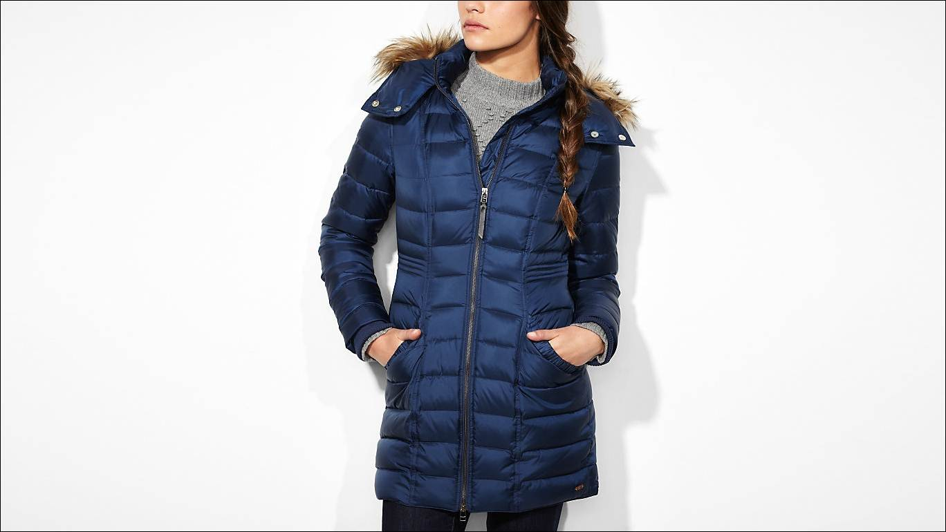 Dark Blue Puffer Coat