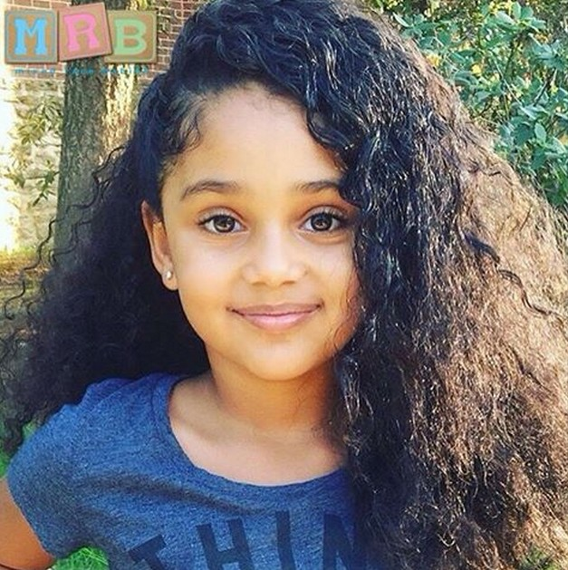 African American permed curly hairstyle for girls