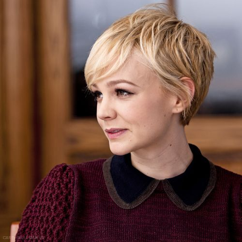 Celebrity short blonde pixie cut for fine hair