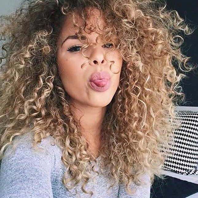long curly hairstyle - permed hairstyles