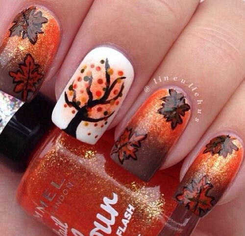 Nails - 20 Fantastic Nail Designs For Thanksgiving Styles Weekly