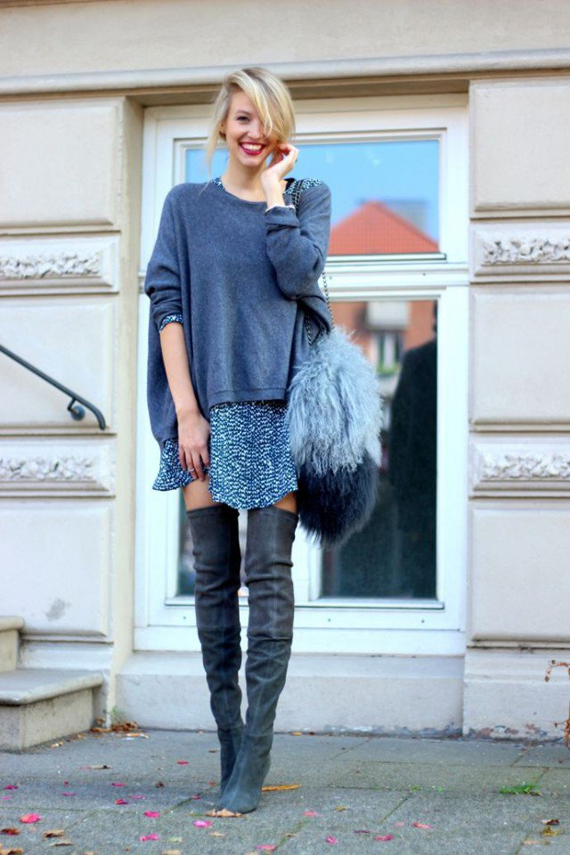Over-Knee Boots Contribute to Effortless Chic Outfits   Styles Weekly