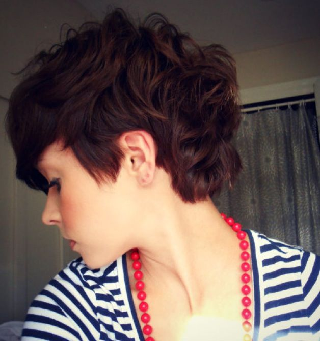 short messy curly wavy pixie haircut