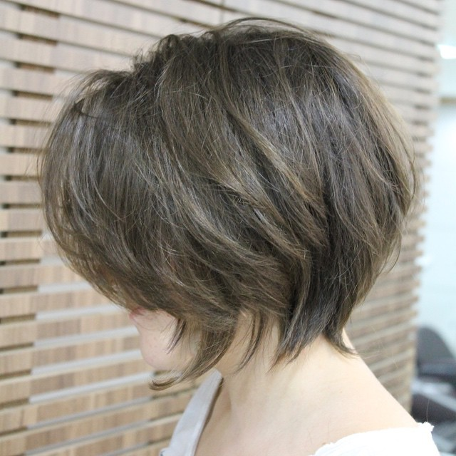 Stupendous Side View Of Cute Layered Messy Bob Haircut Styles Weekly Short Hairstyles For Black Women Fulllsitofus