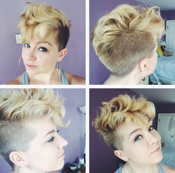 soft curly pixie cut