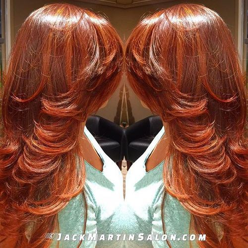 Highlighted Auburn Hair