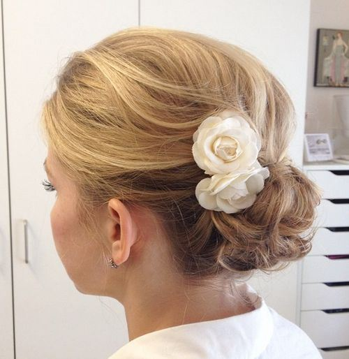 Fantastic Updo Hairstyle With Accessories