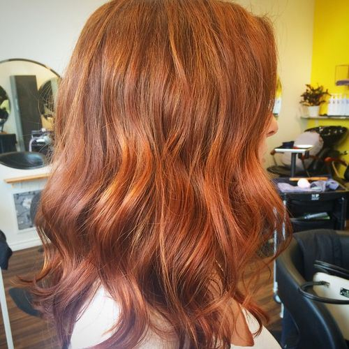 Stylish Golden Hair Color