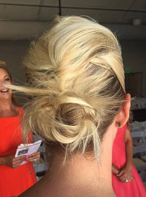 French Roll Bun Hairstyle