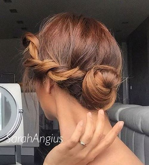 Pretty Low Bun with A Twist