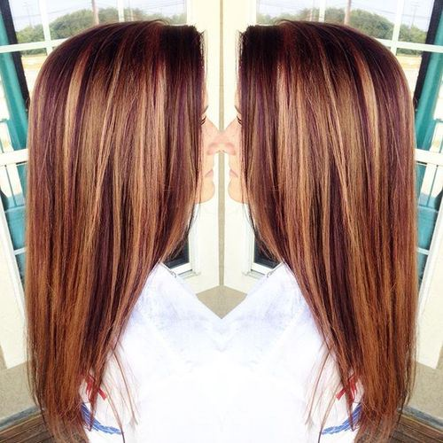 Edgy Highlighted Hair Colors