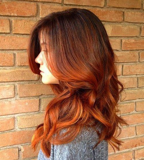 Ombre Auburn Hair