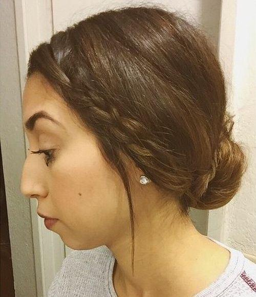 Lovely Low Bun with Braid