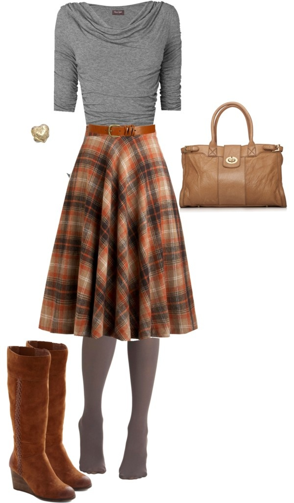 23 Pretty and Plaid Wintertime Looks