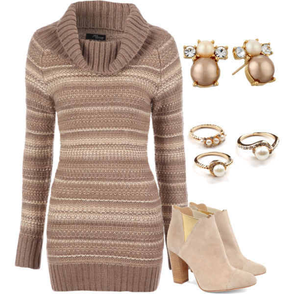 24 Beautiful Winter Dress Looks for Winter