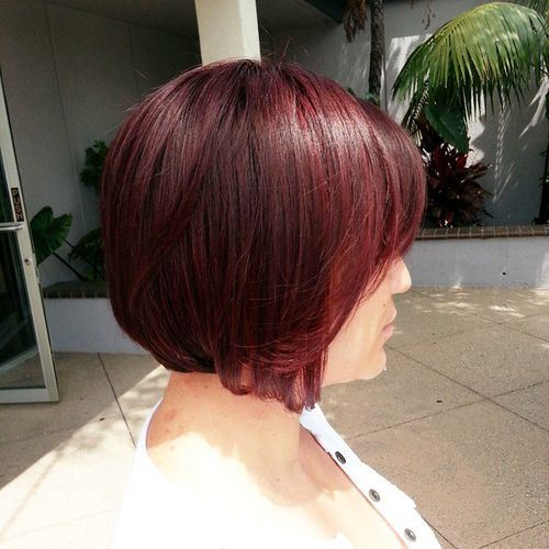 Chic Marsala Hair Color