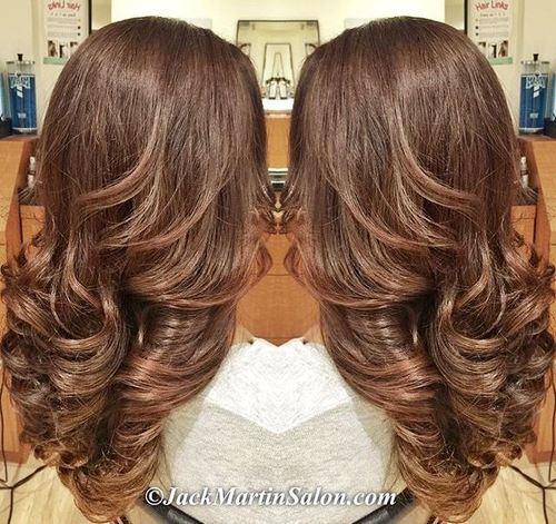 Fashionable Chocolate Hair
