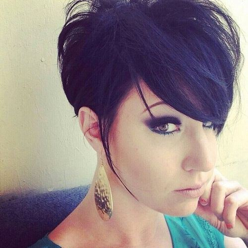 Short Haircut with Emo Bangs