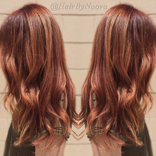 Auburn Hair with Red Highlights