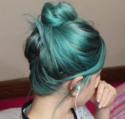 Top Knot for Colored Hair