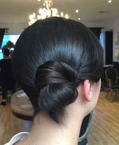 Simple Side Bun Hairstyle