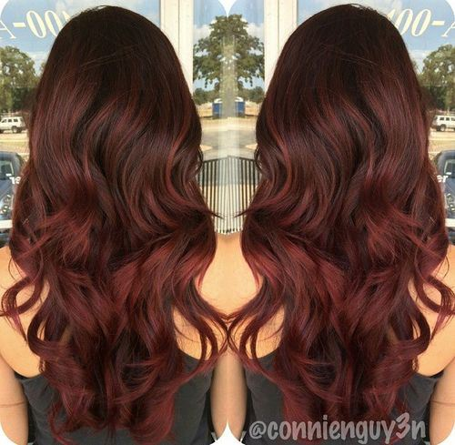 Prev Next Ombre Burgundy Hair Color Ideas