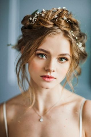 Angelic Updo Hairstyle for Brides