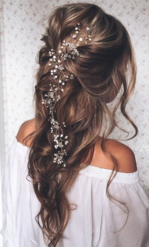 Beautiful Bridal Hairstyle with Accessary