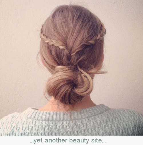 Beautiful Twisted Updo with Braids