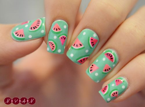 Beautiful Watermelon Nail Design