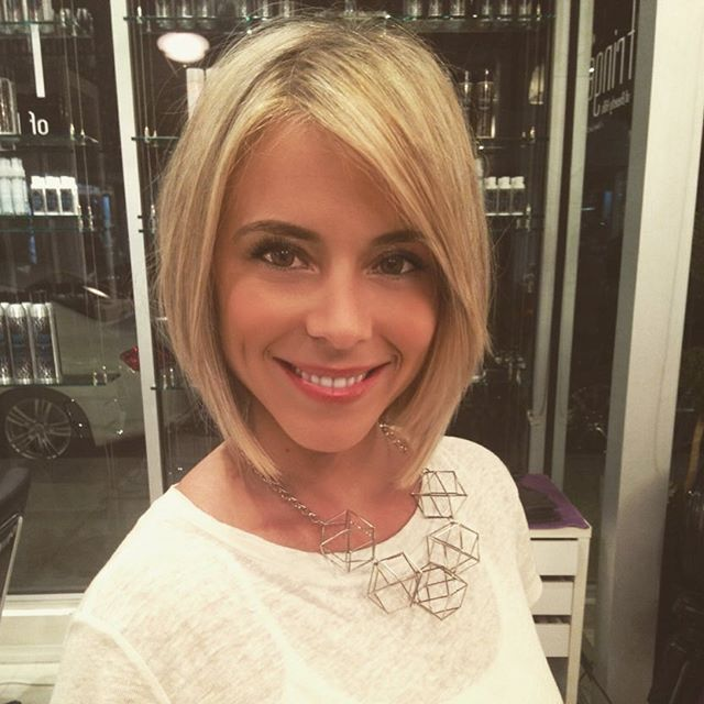Blonde bob haircut for women