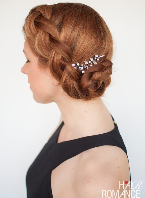 Braided Updo Hairstyle for Prom