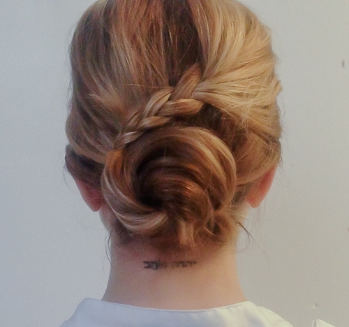 Casual Chic Twisted and Braided Hairstyle