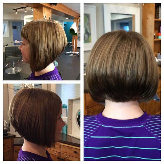 Cute Short Stacked Bob Hairstyle With Bangs For S