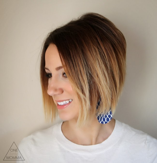Cute short graduated ombre bob cut