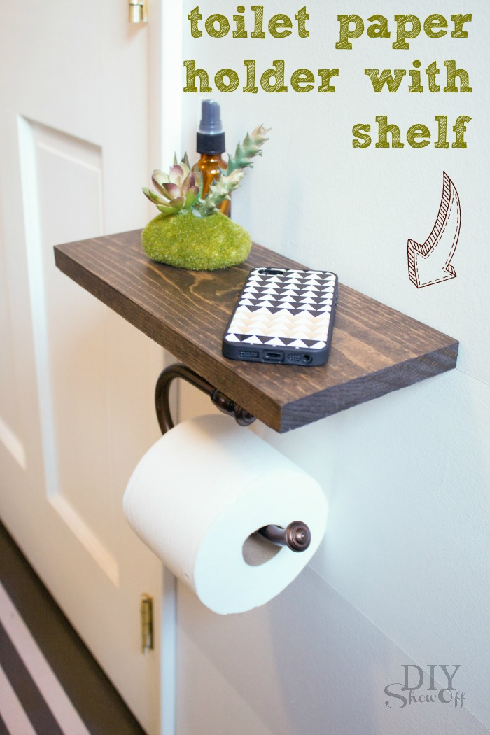 DIY Toilet Paper Holder Tutorial